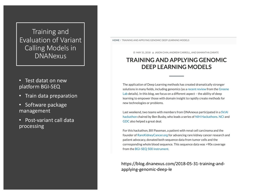 Training and Evaluation of Variant Calling Mode...