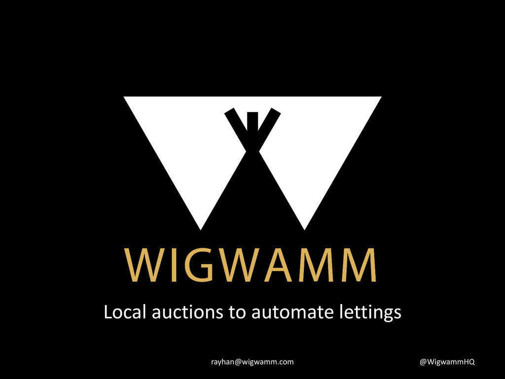 Local auctions to automate lettings @WigwammHQ ...