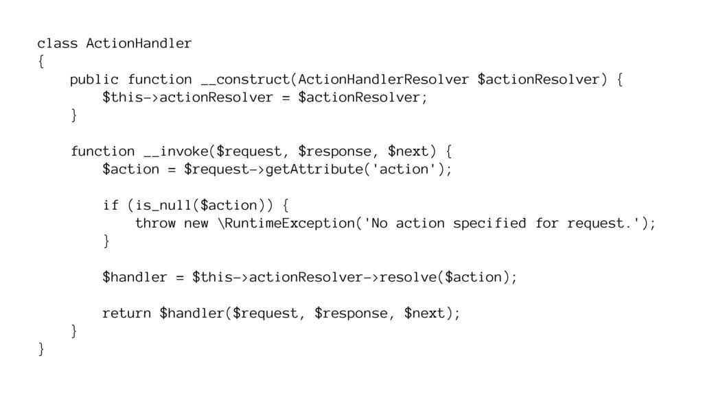 class ActionHandler { public function __constru...