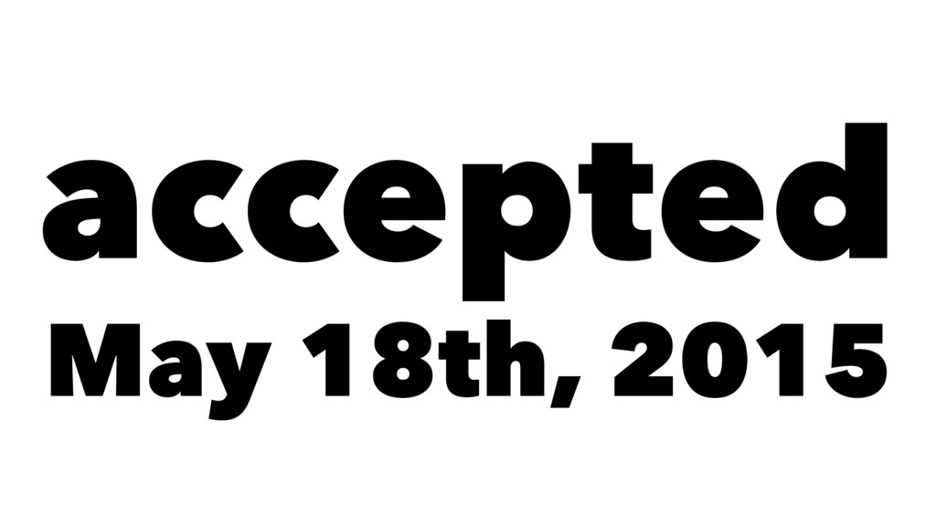accepted May 18th, 2015