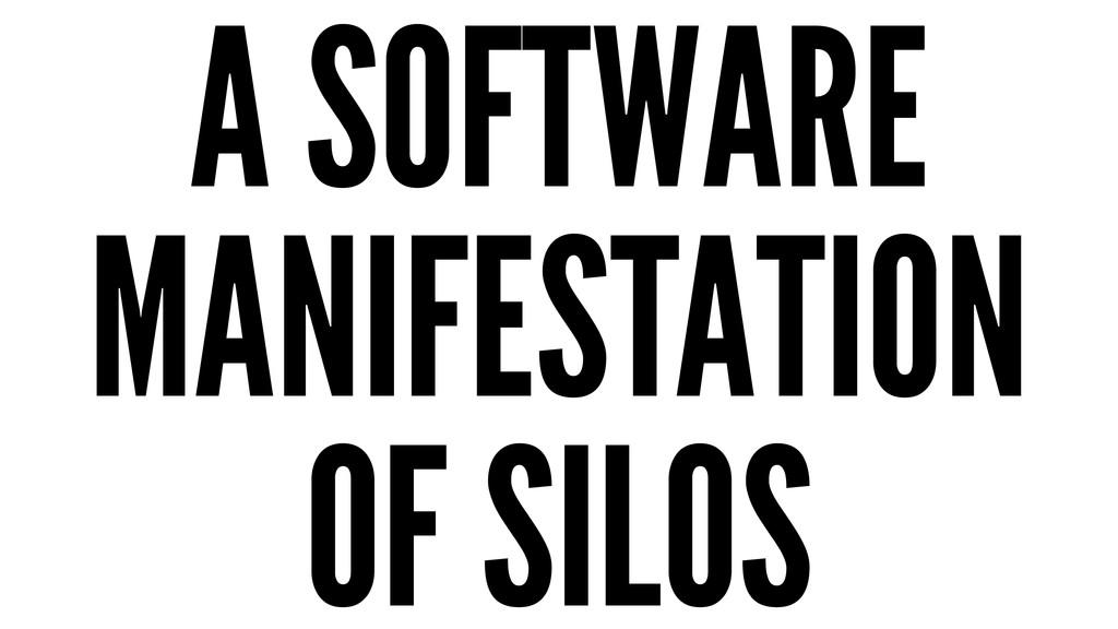 A SOFTWARE MANIFESTATION OF SILOS