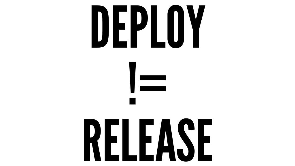 DEPLOY != RELEASE
