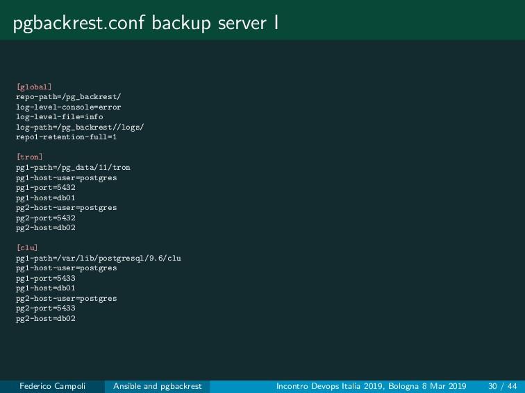 pgbackrest.conf backup server I [global] repo-p...