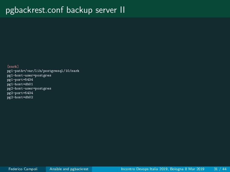 pgbackrest.conf backup server II [sark] pg1-pat...