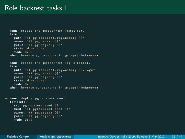 Role backrest tasks I − name: c r e a t e the p...