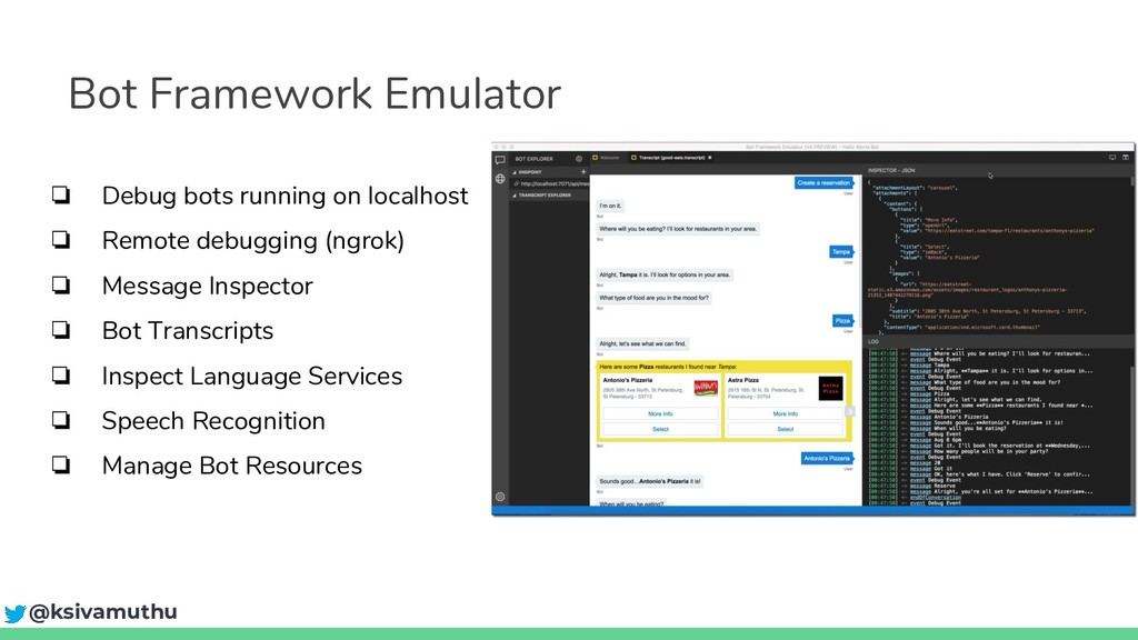 Bot Framework Emulator ❏ Debug bots running on ...