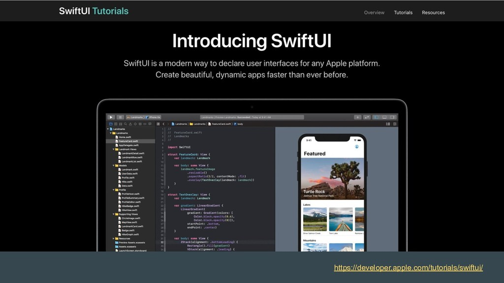 https://developer.apple.com/tutorials/swiftui/