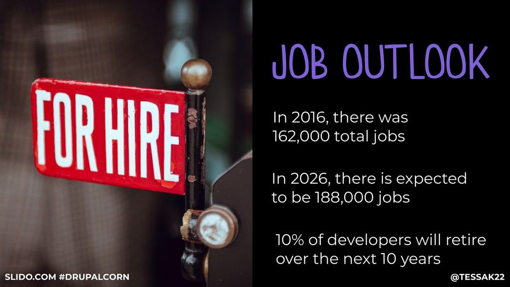 JOB OUTLOOK In 2016, there was 162,000 total jo...