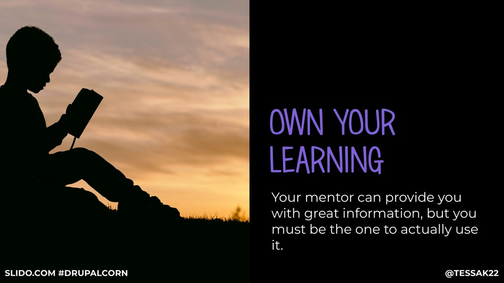 OWN YOUR LEARNING Your mentor can provide you w...