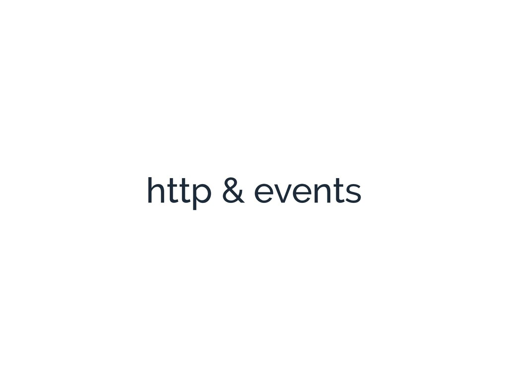 http & events