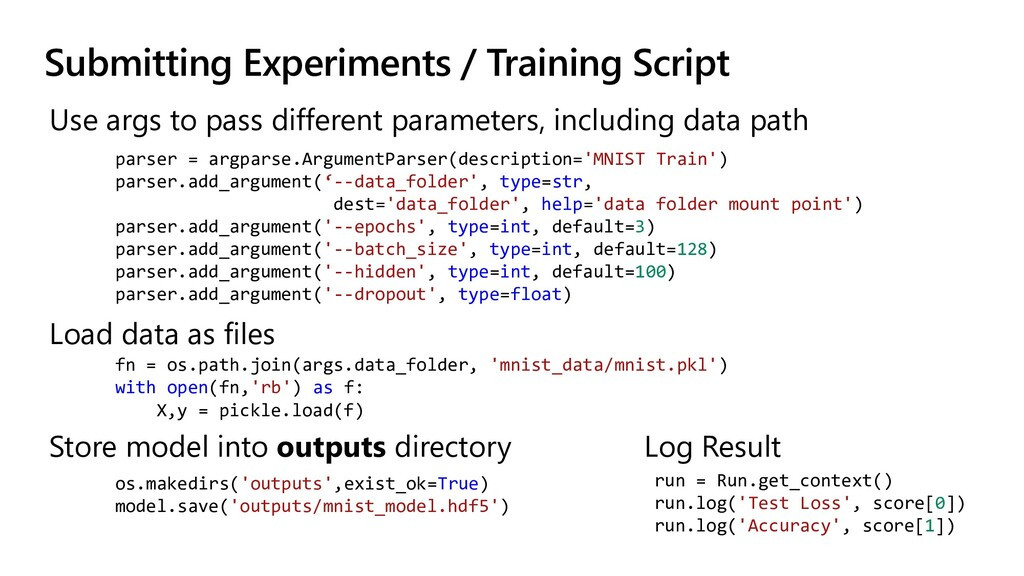 Submitting Experiments / Training Script Use ar...