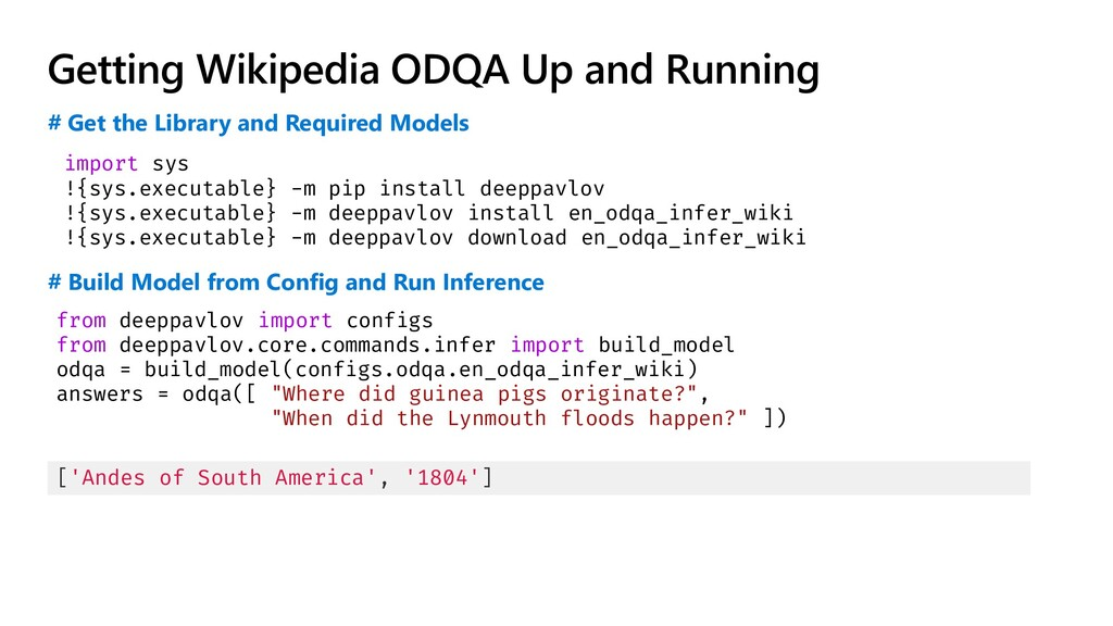 Getting Wikipedia ODQA Up and Running import sy...