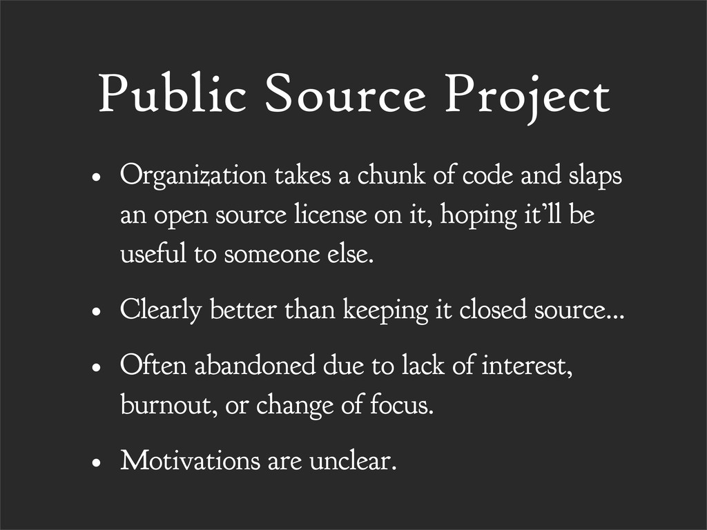 Public Source Project • Organization takes a ch...