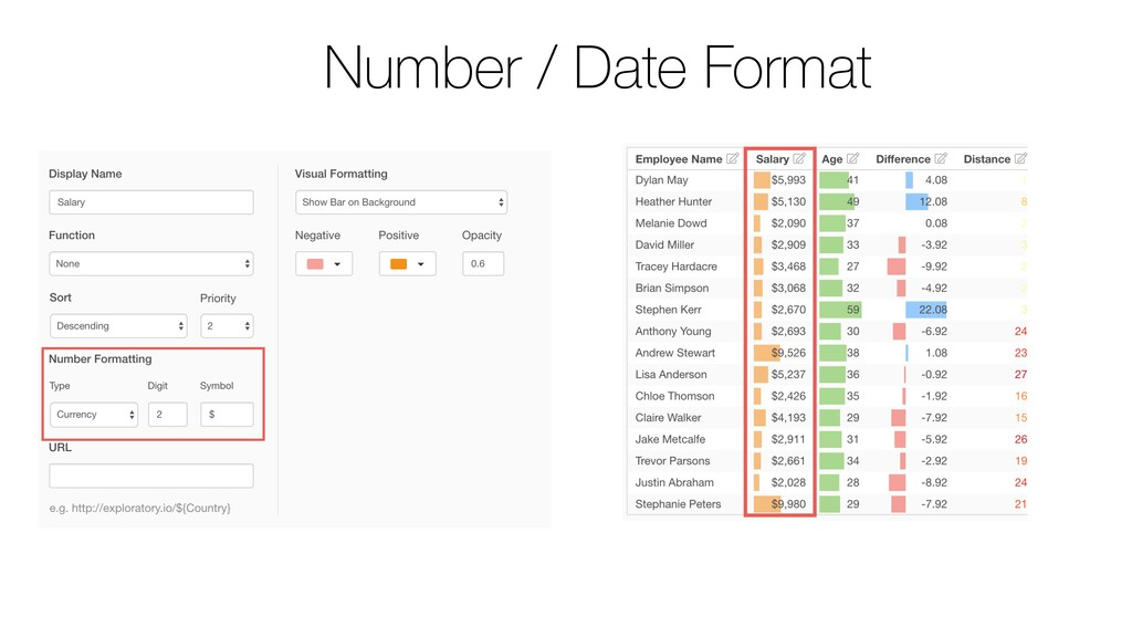 Number / Date Format