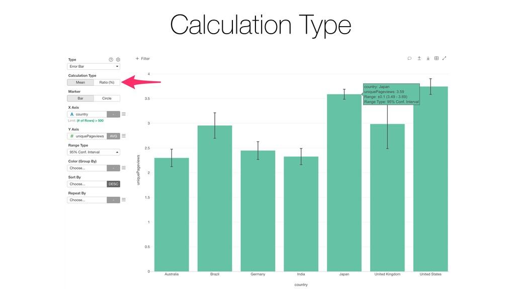 Calculation Type