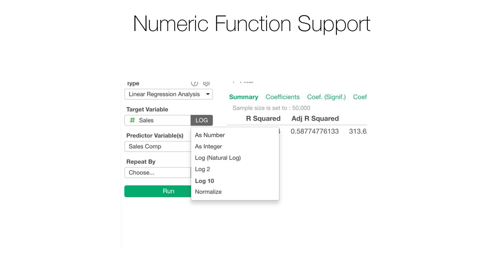 Numeric Function Support