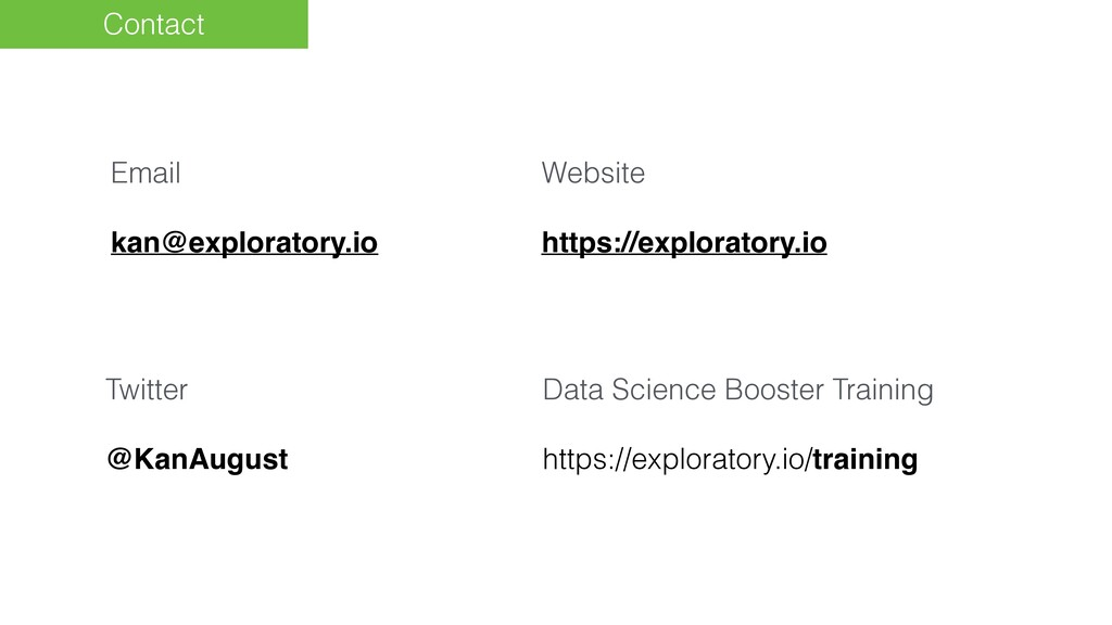 Contact Email kan@exploratory.io Website https:...