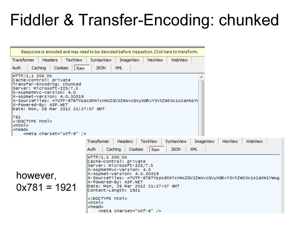 Fiddler & Transfer-Encoding: chunked however, 0...
