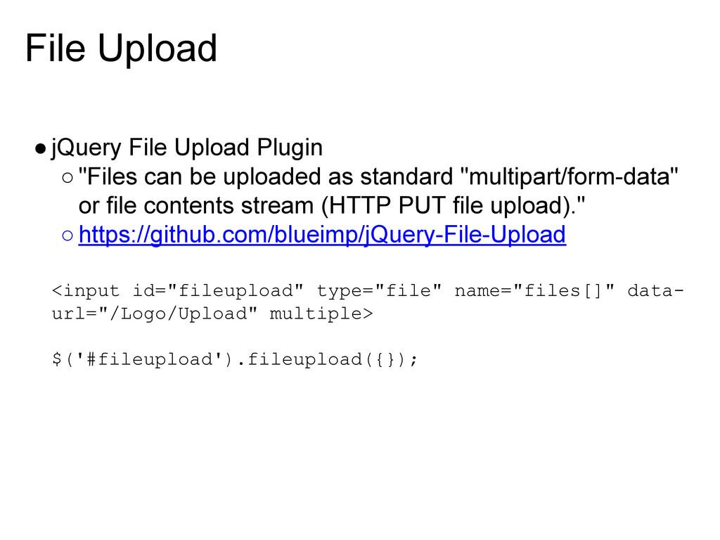"File Upload ●jQuery File Upload Plugin ○""Files ..."