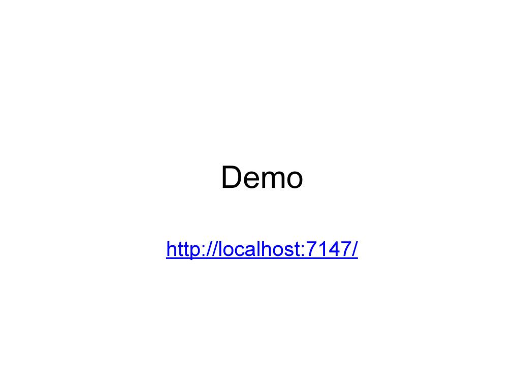 Demo http://localhost:7147/