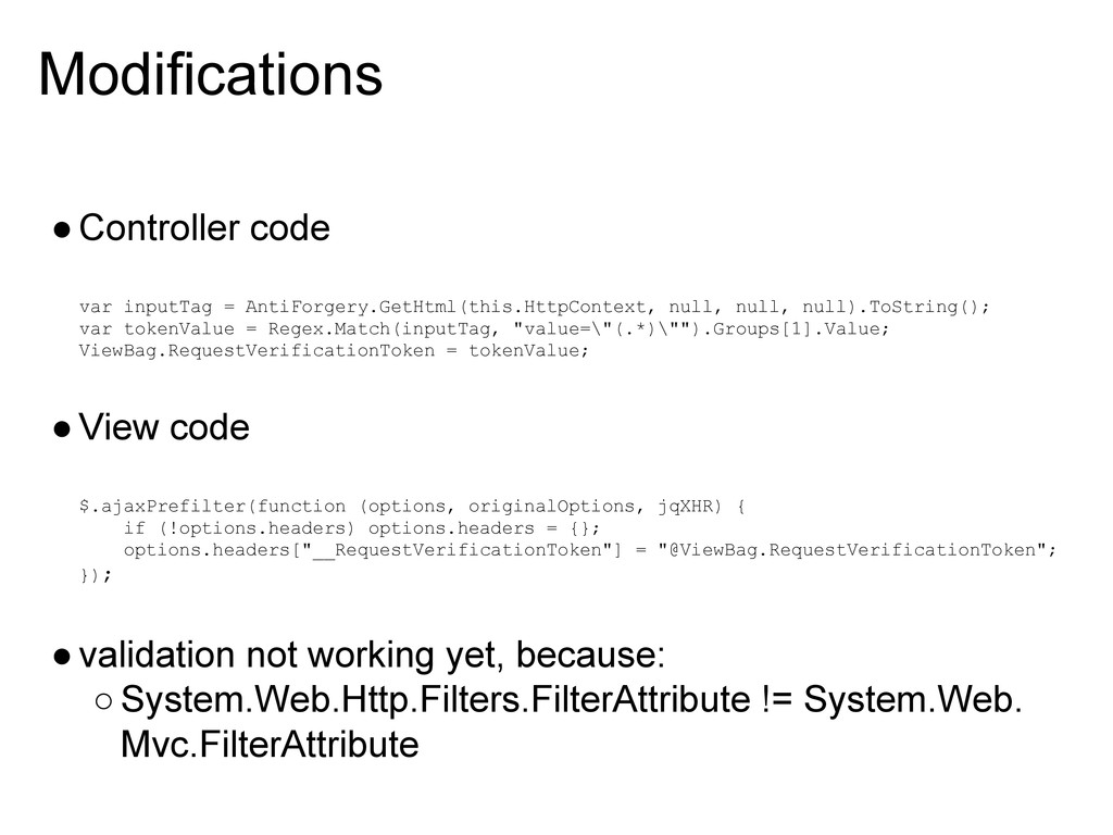 Modifications ●Controller code var inputTag = A...