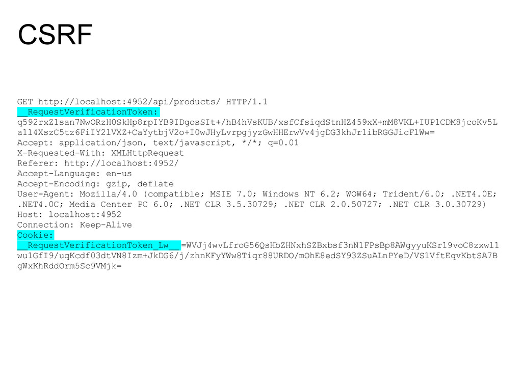 CSRF GET http://localhost:4952/api/products/ HT...