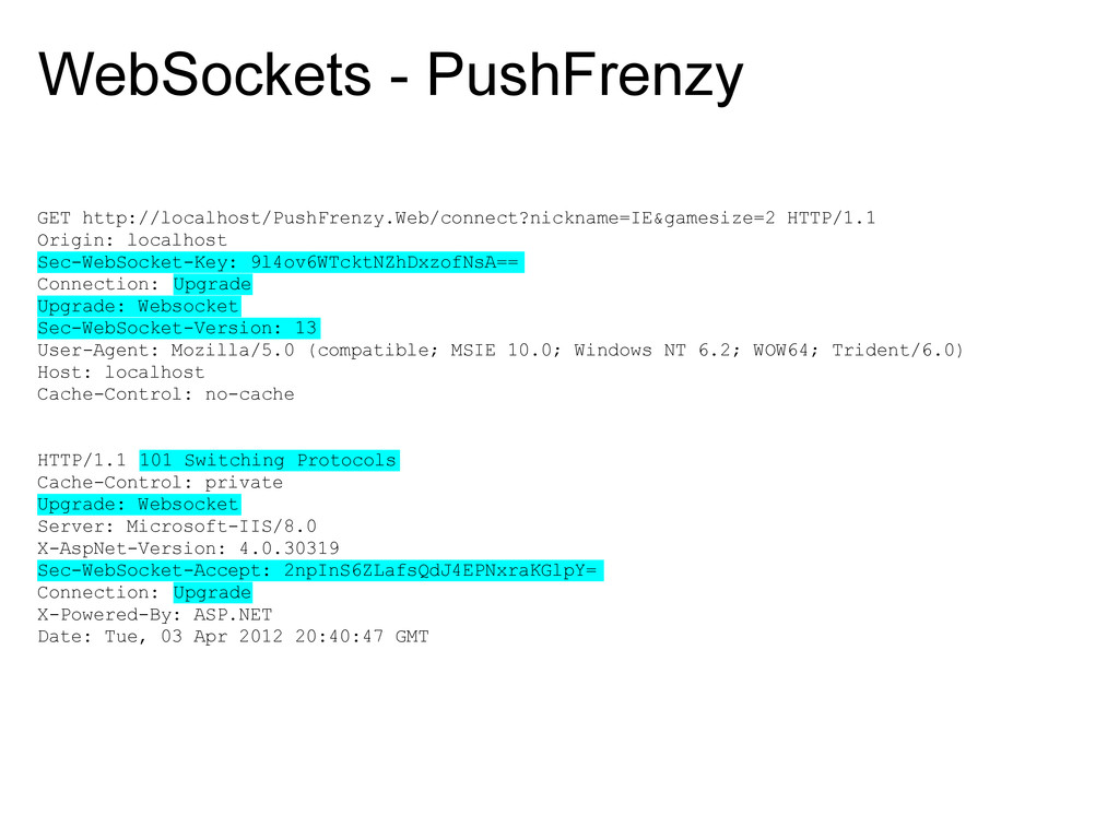 WebSockets - PushFrenzy GET http://localhost/Pu...