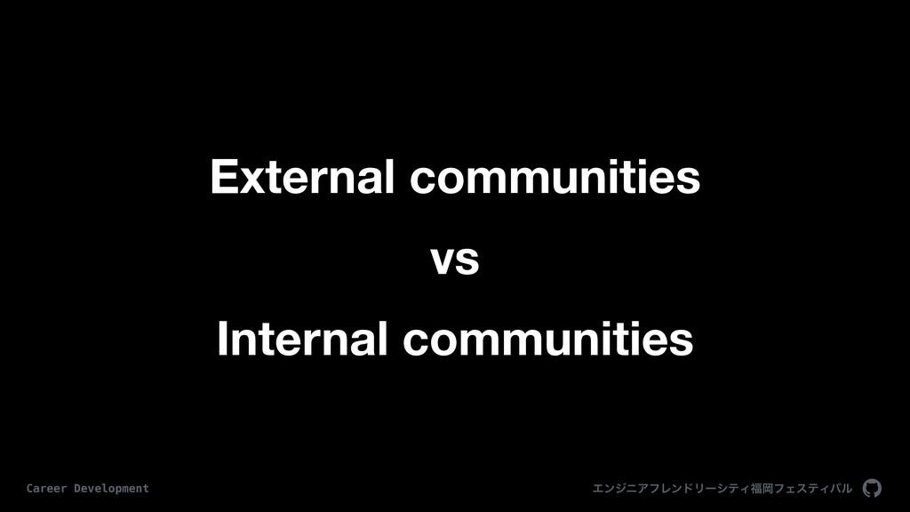 External communities vs Internal communities Τϯ...