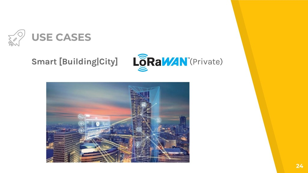 USE CASES Smart [Building|City] 24 (Private)