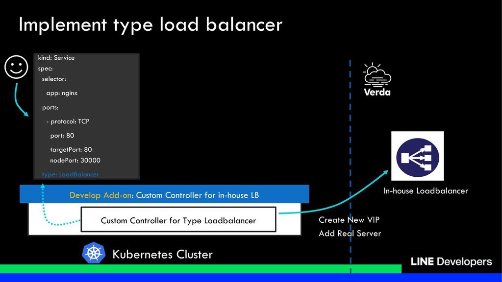 Custom Controller for Type Loadbalancer In-hous...