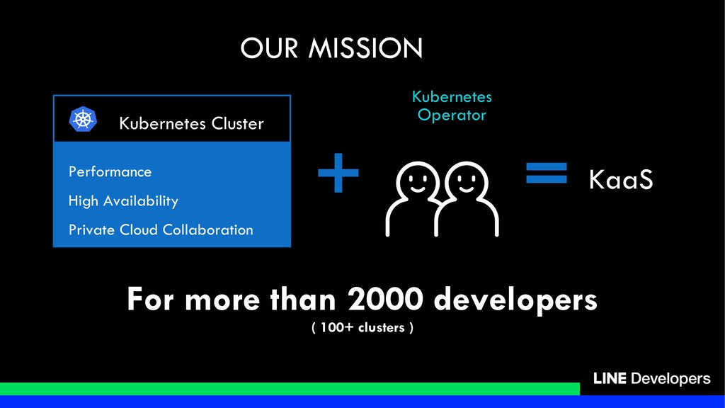 For more than 2000 developers ( 100+ clusters )...