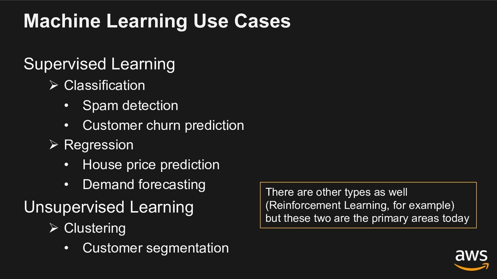 Machine Learning Use Cases Supervised Learning ...