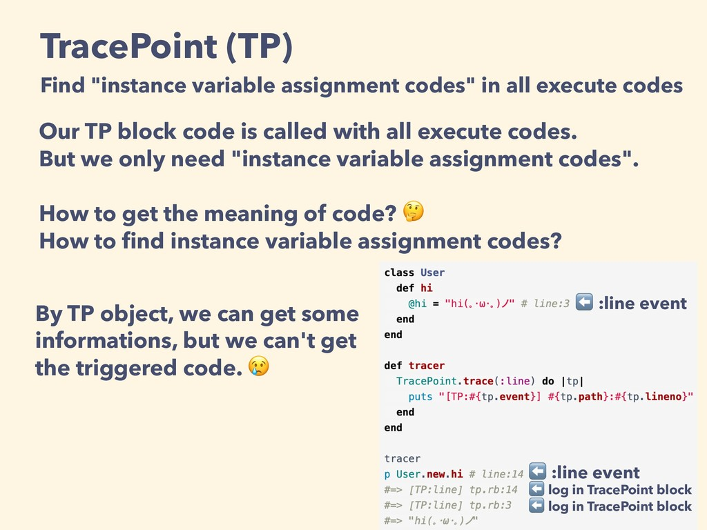 "TracePoint (TP) Find ""instance variable assignm..."