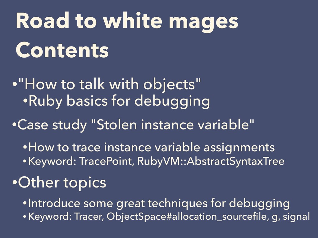 """•""""How to talk with objects"""" •Ruby basics for de..."""