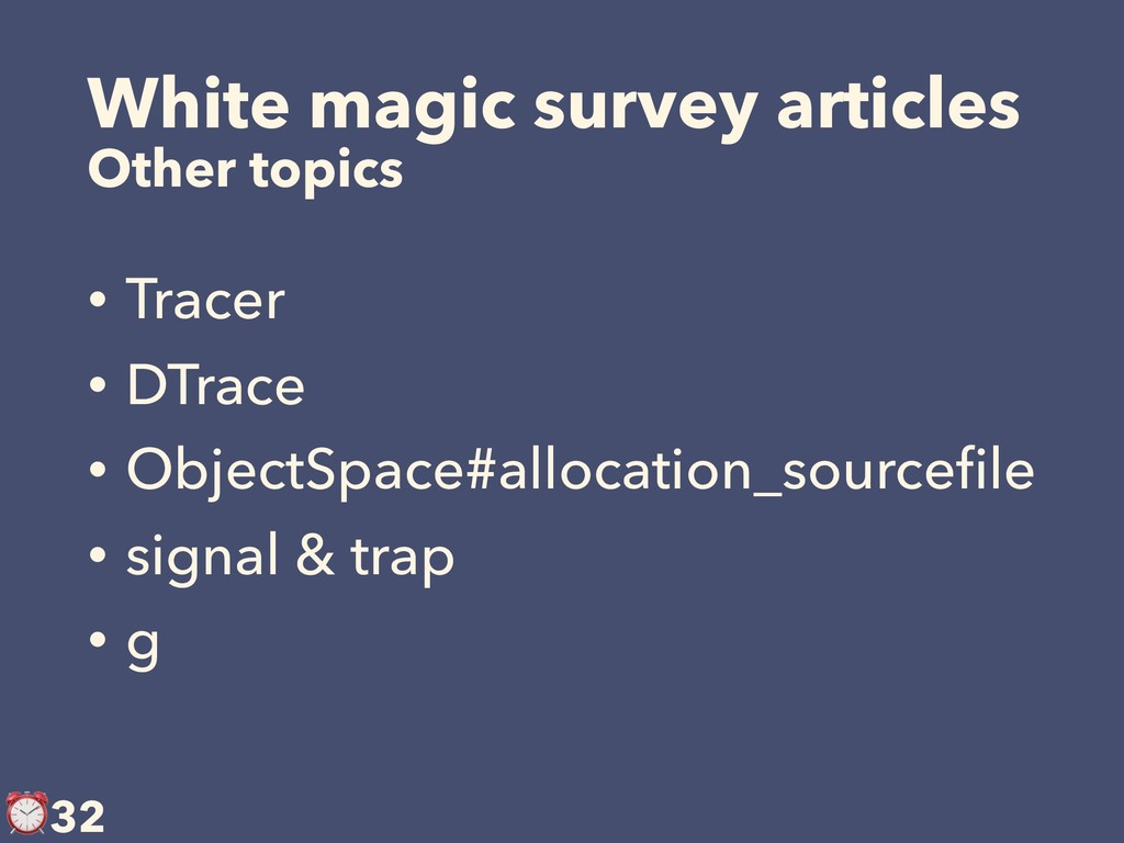 White magic survey articles Other topics • Trac...