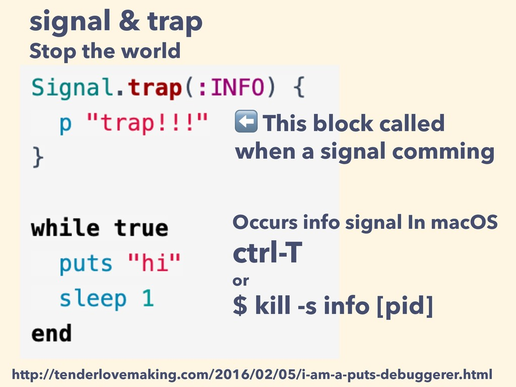 signal & trap Stop the world ⬅ This block calle...