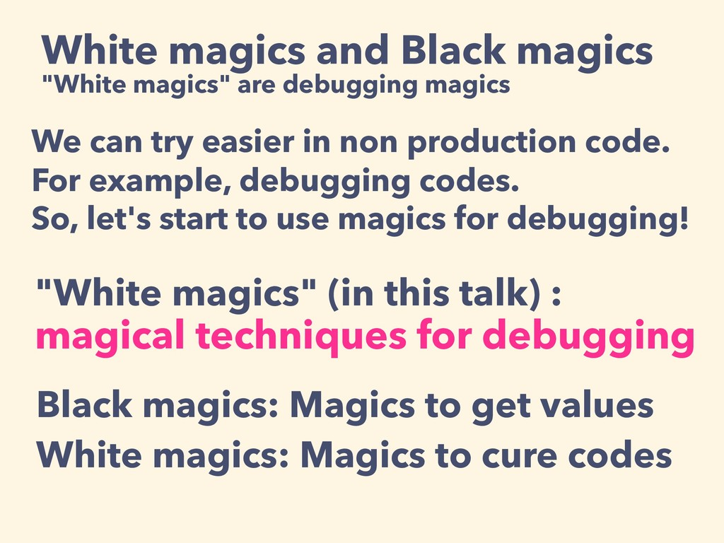 "White magics and Black magics ""White magics"" ar..."