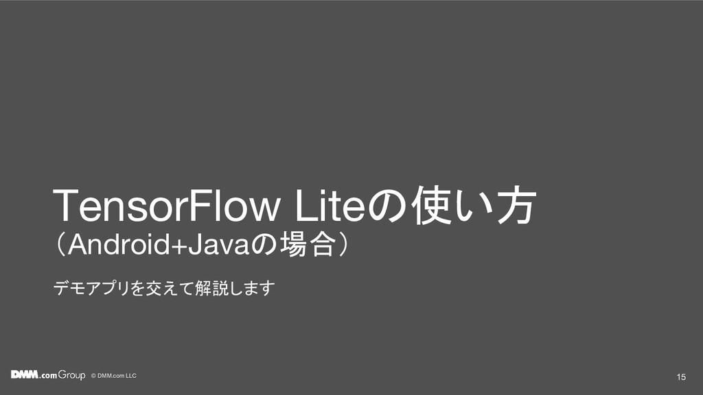© DMM.com LLC TensorFlow Liteの使い方 (Android+Java...