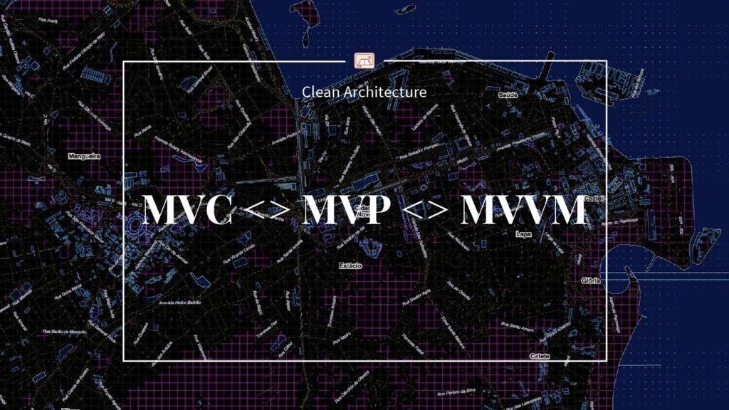 Clean Architecture MVC <> MVP <> MVVM