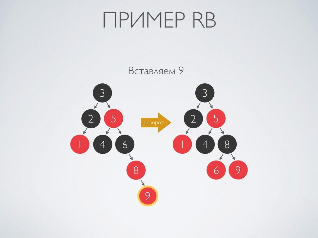 ПРИМЕР RB Вставляем 9 2 1 3 5 6 4 8 9 2 1 3 5 8...