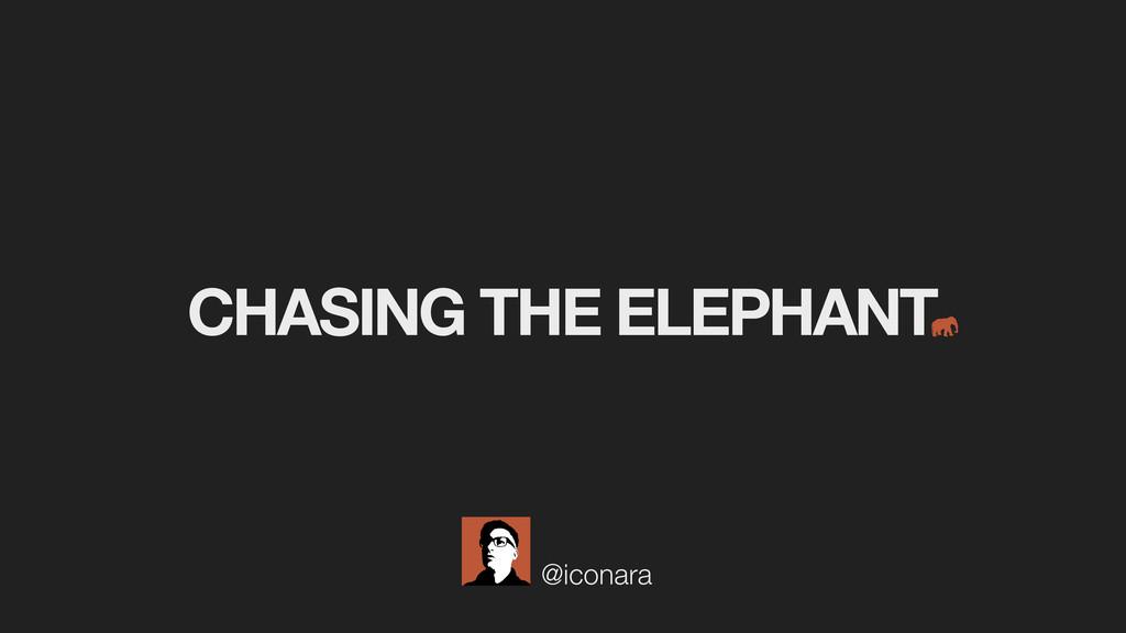@iconara CHASING THE ELEPHANT