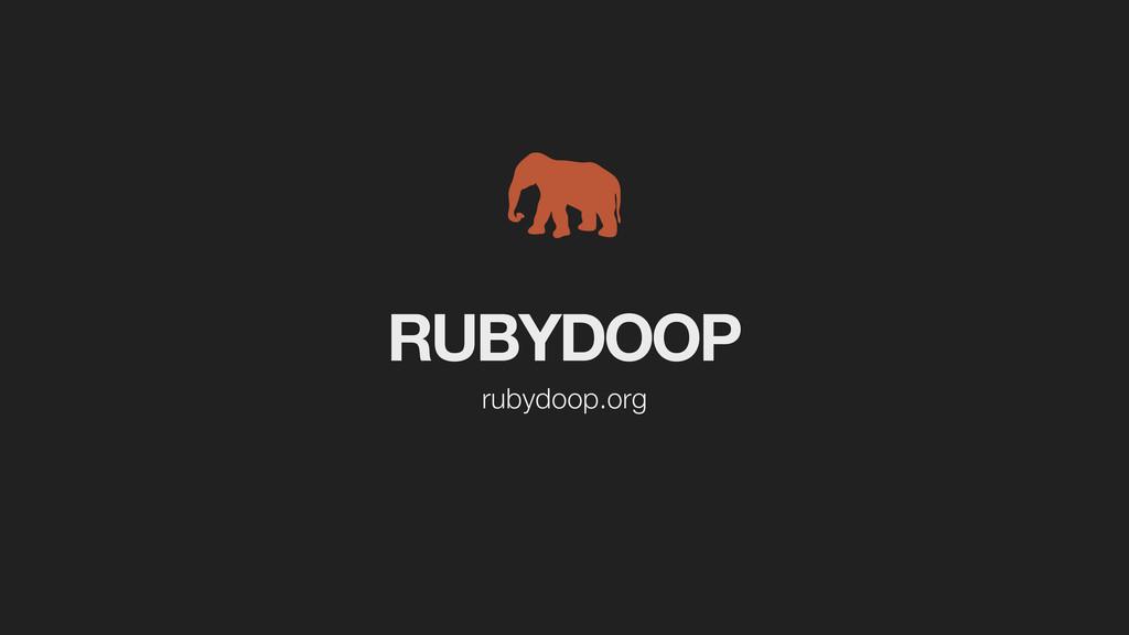 RUBYDOOP rubydoop.org