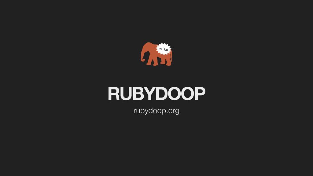 RUBYDOOP rubydoop.org v1.1.0