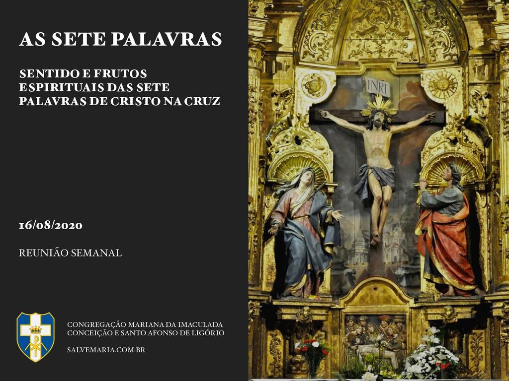AS SETE PALAVRAS SENTIDO E FRUTOS ESPIRITUAIS D...