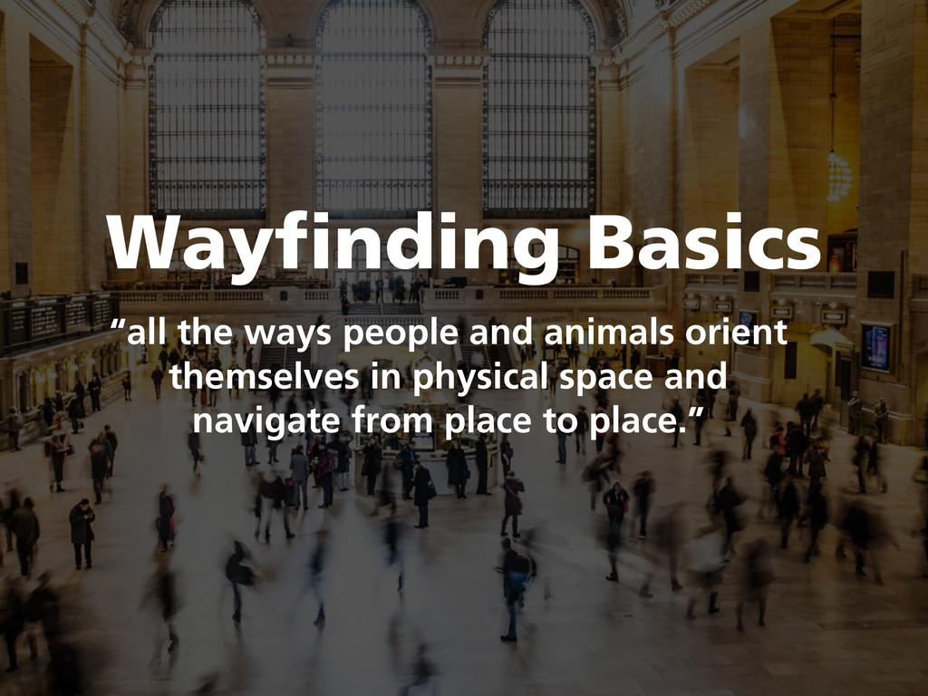 "Wayfinding Basics ""all the ways people and anim..."