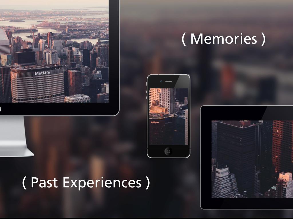 ( Memories ) ( Past Experiences )