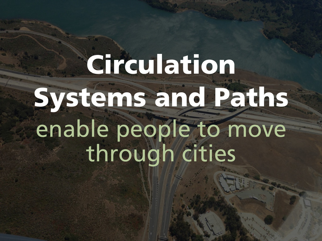 Circulation Systems and Paths enable people to ...