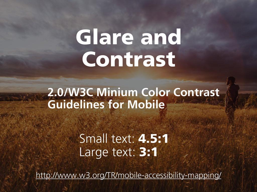 Glare and Contrast 2.0/W3C Minium Color Contras...