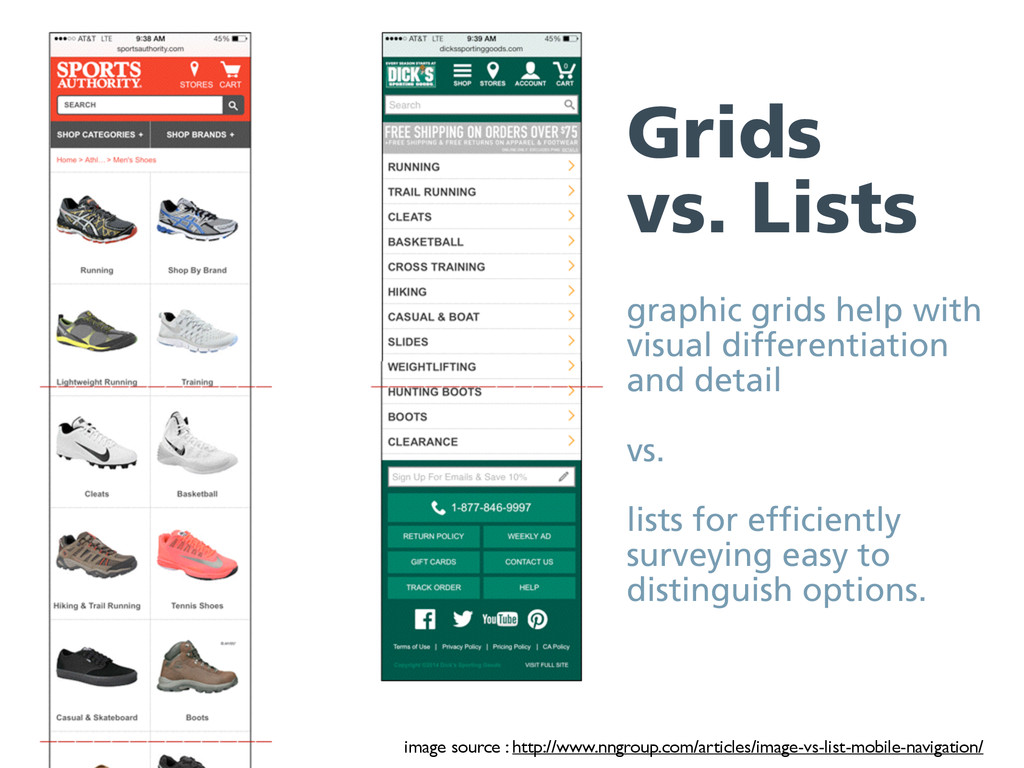 Grids vs. Lists graphic grids help with visual ...
