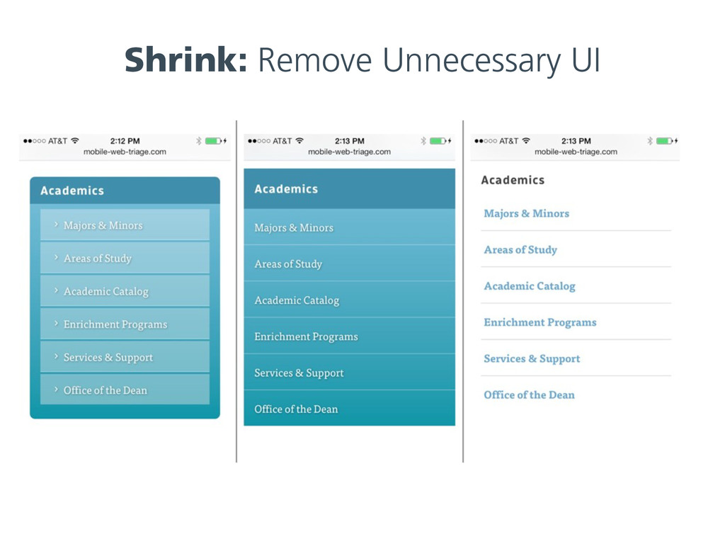 Shrink: Remove Unnecessary UI